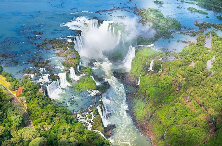 Argentina, Iguassu Falls, AerialBLOG