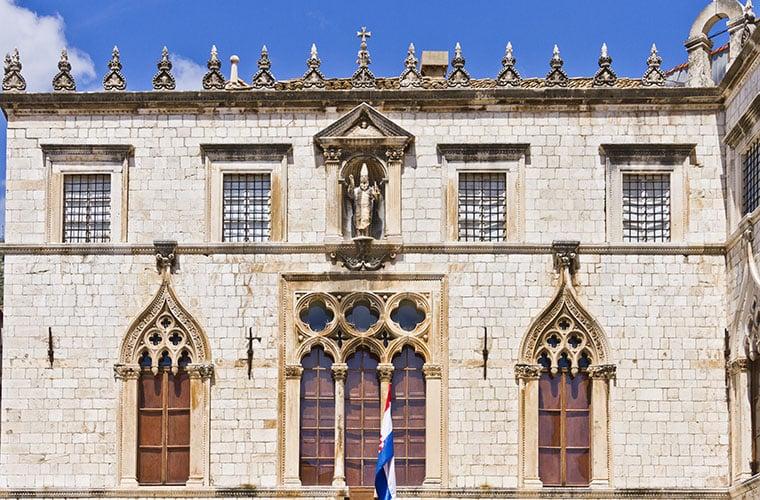 dubrovnik croatia travel sponza palace